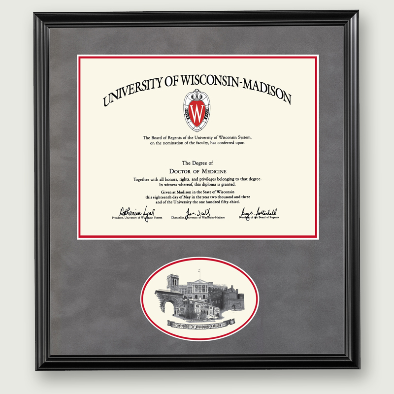 Alumni Artwork Diploma Frame W Oval