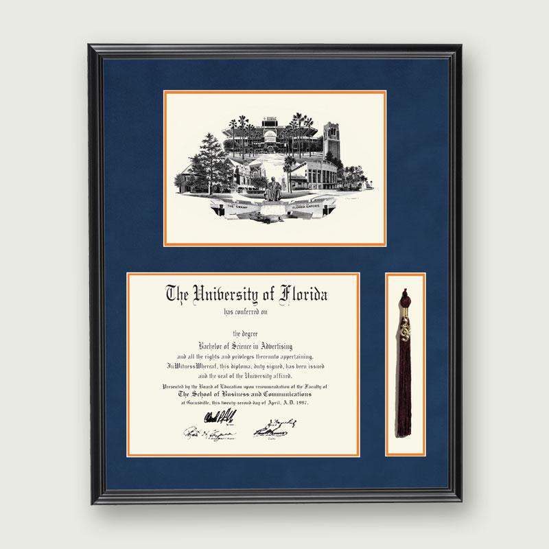 Alumni Artwork | Diploma & Tassel Frame