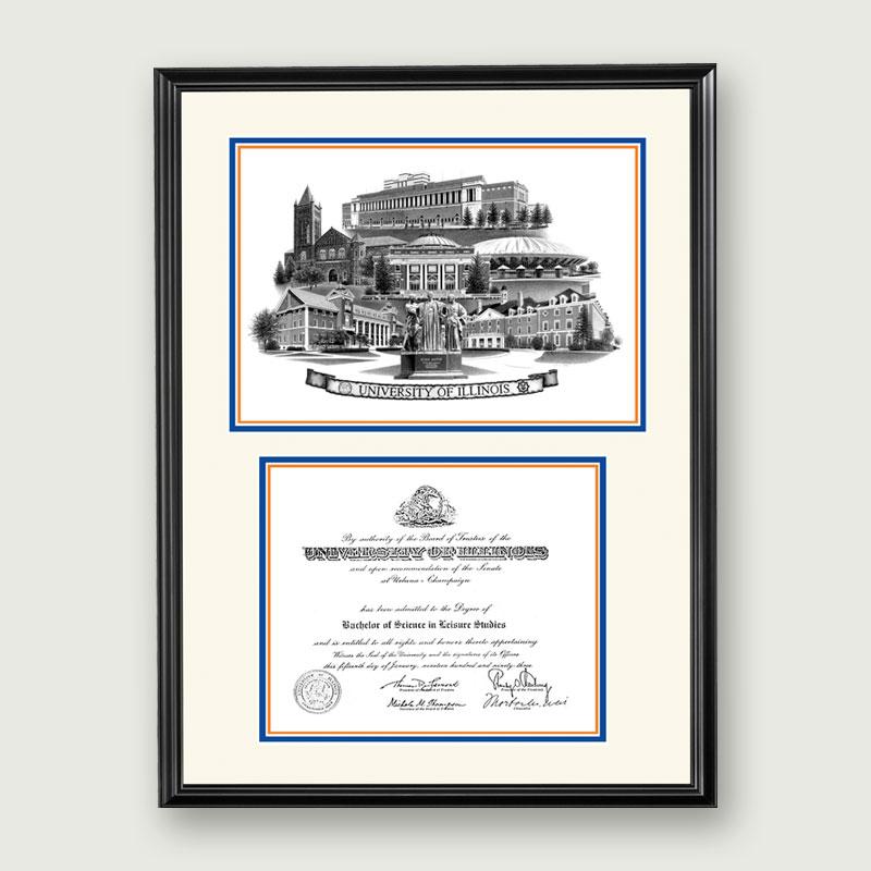 Alumni Artwork | Artistic Diploma Frame – Standard Matting