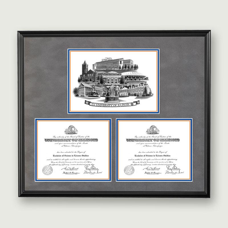 Alumni Artwork | Double Diploma Frame