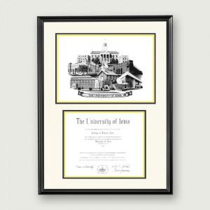 Iowa-Artistic-Diploma–Standard-Matting–Black