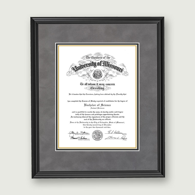 diploma frame $ 99 95 our diploma frame is double matted with a museum ...