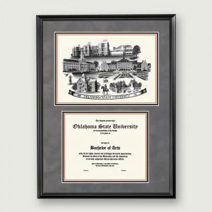 OS-Suede-Diploma-Frame-Black