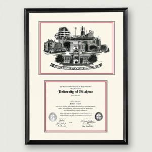 Okl-Non-Suede-Diploma-Frame-Black