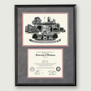 Okl-Suede-Diploma-Frame-Black
