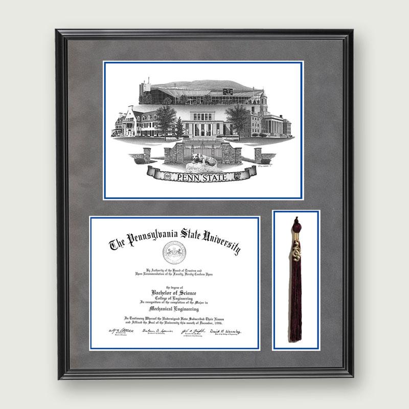 Alumni Artwork   Diploma & Tassel Frame