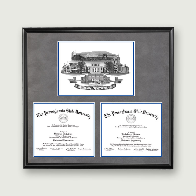 Alumni Artwork | Double Diploma Frame