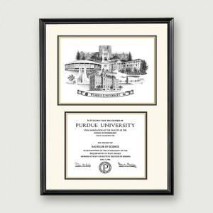 Purdue-Artistic-Diploma–Standard-Matting–Black