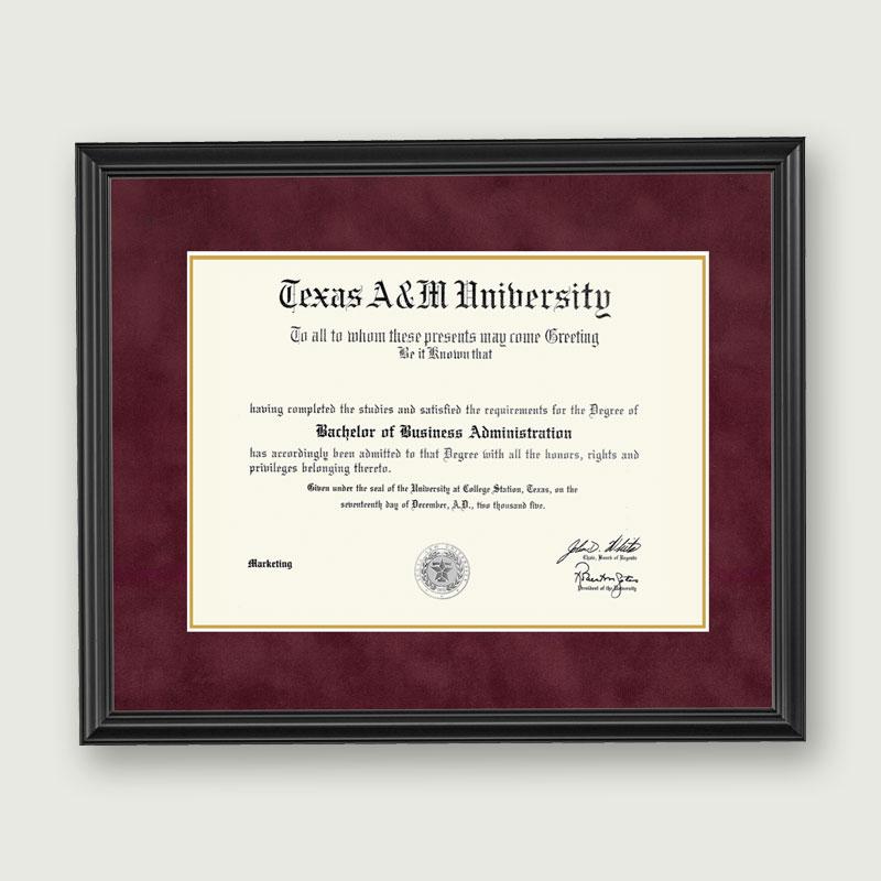 Alumni Artwork | Diploma Frame – Deluxe Matting