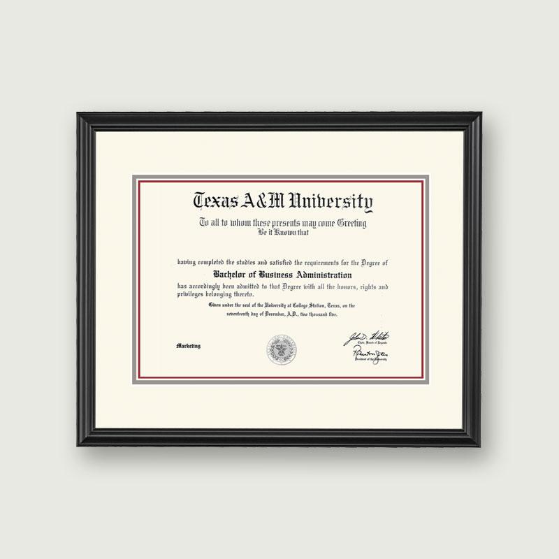Alumni Artwork | Diploma Frame – Standard Matting