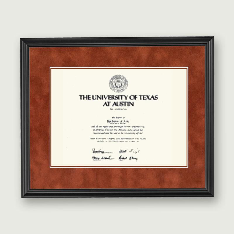 Alumni Artwork Diploma Frame Deluxe Matting