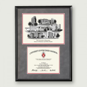 Wisc-Med-Artistic-Diploma-Frame–Black