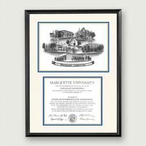 Mar-Non-Suede-Diploma-Frame-Black