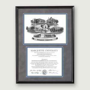 Mar-Suede-Diploma-Frame-Black
